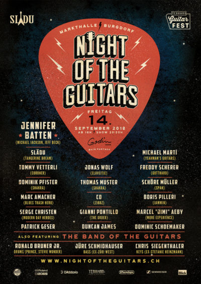 Night Of The Guitars Poster